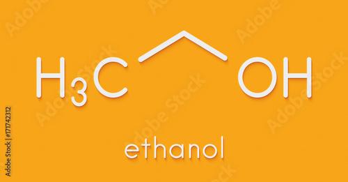 Alcohol Ethanol Ethyl Alcohol Molecule Chemical Structure