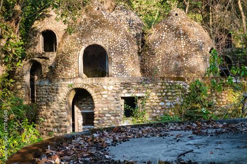 Meditation cells at the abandoned Maharishi Mahesh Yogi Ashram (Beatles Ashram) Wallpaper Mural