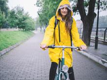 Biking In The Raincoat