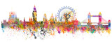 Fototapeta London - Abstract illustration of the London skyline
