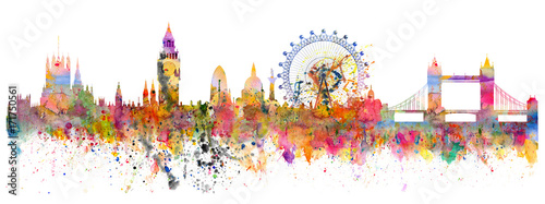 Abstract illustration of the London skyline