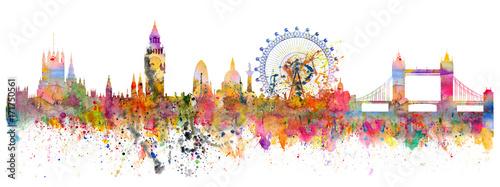 Naklejka premium Streszczenie ilustracja panoramę Londynu