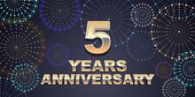 5 Years Anniversary Vector Ico...