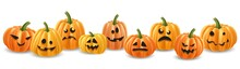 Halloween Pumpkin Head Row Wit...