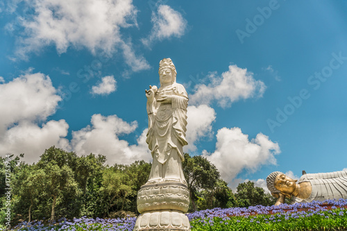 Asian religion Statues in Buddha Eden Garden in Bacalhao, Bombarral, Portugal Poster
