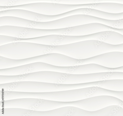 Staande foto Fractal waves white abstract waves