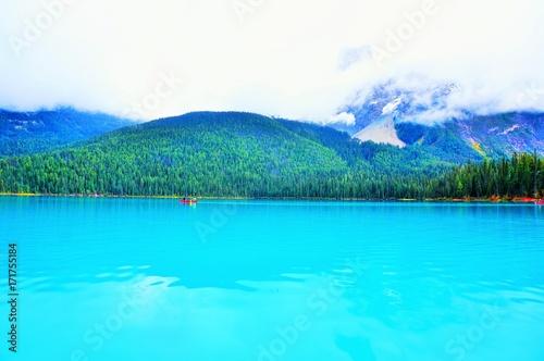 Spoed Foto op Canvas Turkoois Emerald Lake