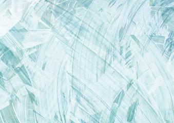 Fototapeta Pinselstriche auf hellblauem Hintergrund