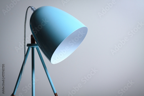 Table lamp in turquoise colours. Poster Mural XXL