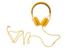 Yellow Headphones Or Earphone ...