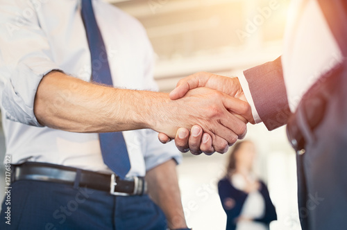 Valokuva  Businesspeople shaking hands
