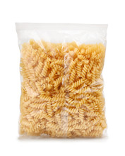 Plastic Bag Of Fusilli Pasta