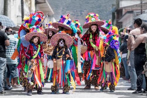Fotografie, Tablou Chor at carnaval zoque coiteco