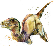 Dinosaur Watercolor Illustrati...