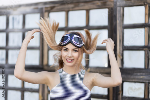 Photo  Girl fun fashion tumblr glasses happy