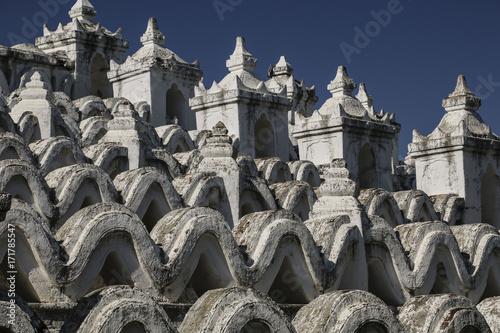 The white pagoda of Hsinbyume (Mya Thein Dan pagoda ) Mingun,Myanmar (Burma) Poster