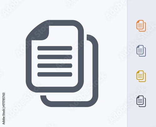 Document Copy - Carbon Icons. A professional, pixel-aligned icon designed on a 32x32 pixel grid and redesigned on a 16x16 pixel grid for very small sizes. Wall mural