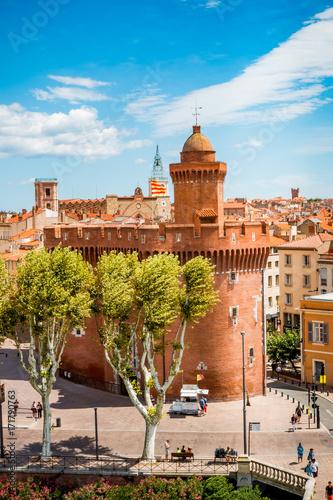 Photo  Vue sur la ville de Perpignan depuis une terrasse
