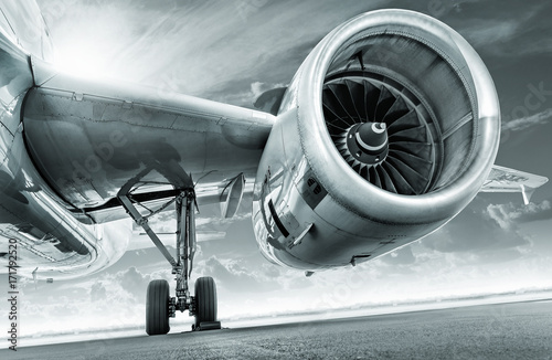 jet engine Canvas Print