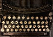 Aeral View Of A Vintage Typewriter
