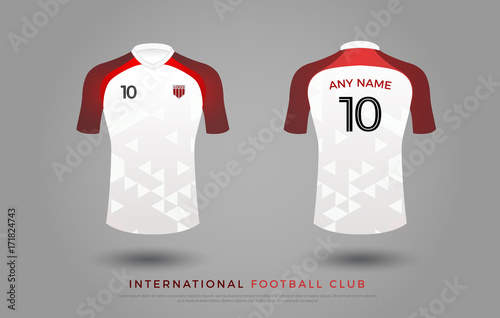 6562c840b9e soccer t-shirt design uniform set of soccer kit. football jersey template  for football