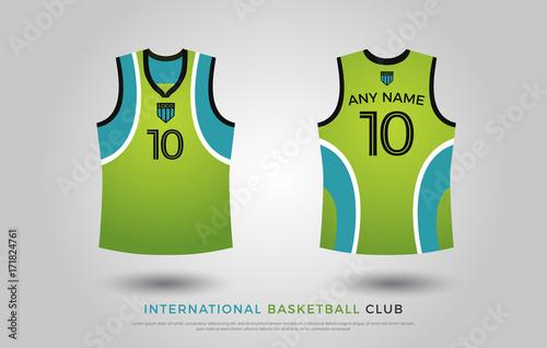 6d5a0abd0 basketball t-shirt design uniform set of kit. basketball jersey template.  green and