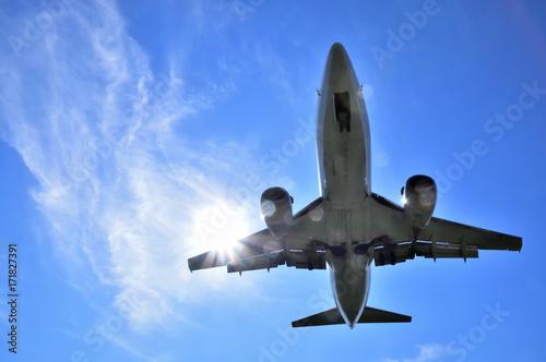 Fotografie, Obraz  大空を飛ぶジェット機