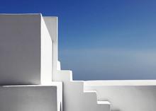 White Stairs On Santorini Greece