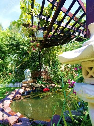 romantischer Garten / Teich / Schrebergarten – kaufen Sie ...