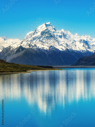 Poster Lac / Etang Mount Cook in New Zealand