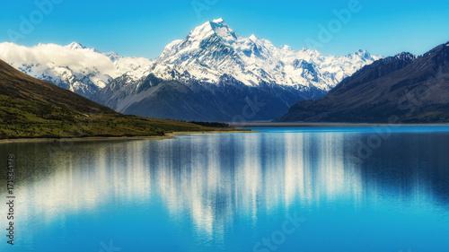 Fotobehang Bergen Mount Cook in New Zealand