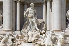 Detail From Trevi Fountain In ...