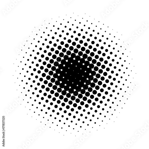 Fotografie, Obraz  Circle gradient halftone dots background