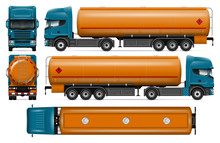 Tanker Truck Vector Mock-up