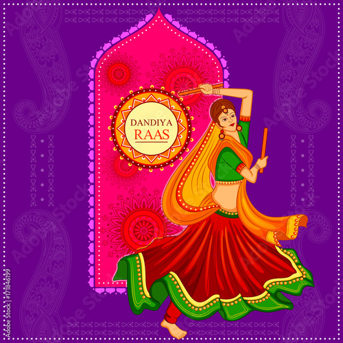 People Performing Garba Dance On Poster Banner Design For Dandiya Night Buy This Stock Vector And Explore Similar Vectors At Adobe Stock Adobe Stock