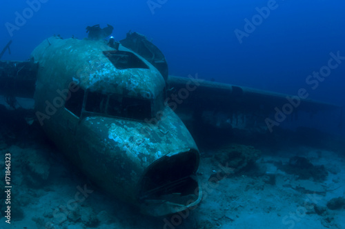 Canvas Prints Shipwreck Plane Wreck