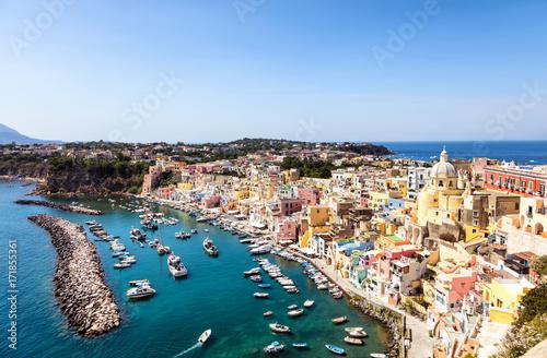 Zdjęcie XXL Widok Procida Zatoka, Zatoka Naples, Kampania Region, Włochy