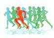 eine Gruppe von Läufern beim Laufen