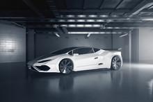 New White Sportscar Side