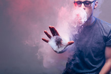Men With Beard Vape And Produse Steam Rings