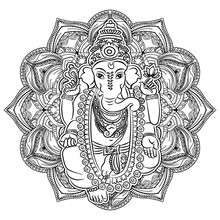 Ganesha Coloring Book For Adults