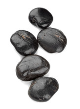 Black Zen Pebbles Isolated On ...