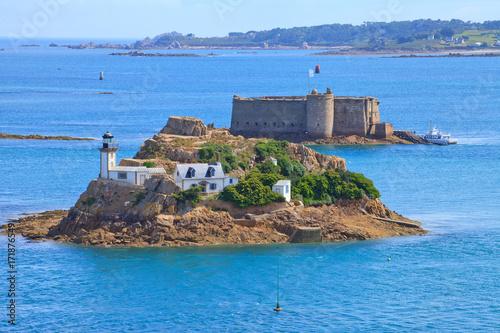 Fotografía Phare de l'île Louët, Carantec et Château du taureau, Plouezoc'h
