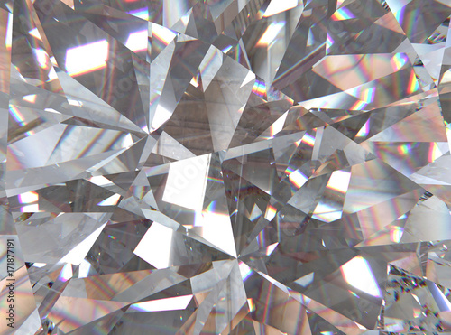 Fotografie, Obraz crystal refractions background