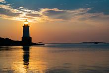 Sunrise At Lighthouse In Salem