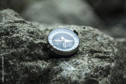analogic compass on the stone Canvas Print