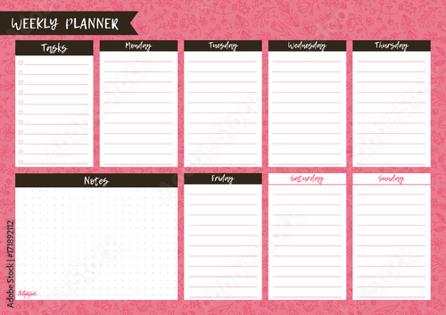 image about Cute Weekly Planners named Printable weekly planner. Lovable webpage for notes. Notebooks