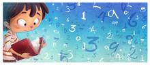 Niño Con Libro De Matematicas