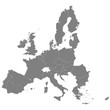 High quality map of European Union with borders of the regions