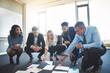 Business team brainstorming in office